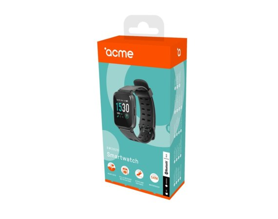 ACME Europe Smartwatch z pulsometrem, 5ATM, IPS, 2.5D Gor. Glass SW202G