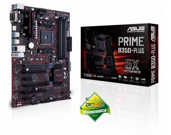 Asus PRIME B350-PLUS AM4 B350 4DDR4 USB3/HDMI/Dsub ATX