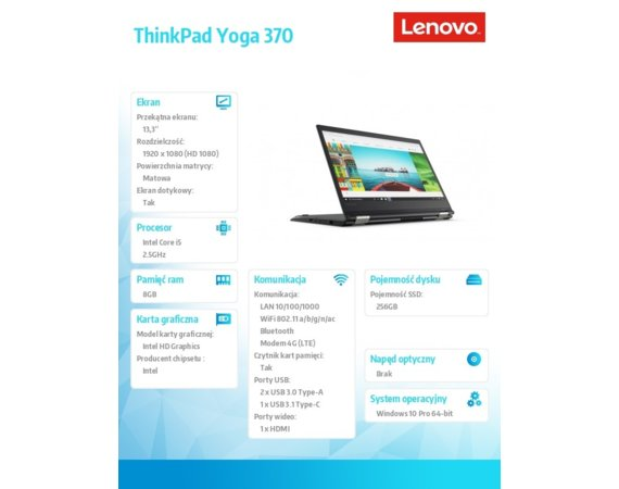 Lenovo ThinkPad Yoga 370 20JH002QPB