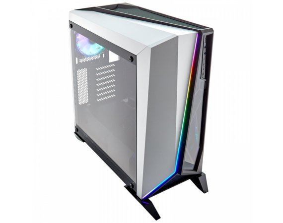 Corsair CARBIDE SERIES SPEC-OMEGA RGB ATX Tempered Glass Mid-Tower ATX Gaming Obudowa Biała
