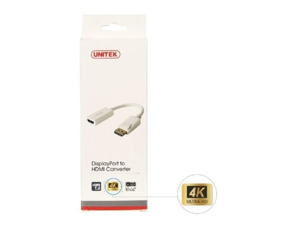 Unitek Adapter DisplayPort - HDMI 4K; Y-6332 BIAŁY