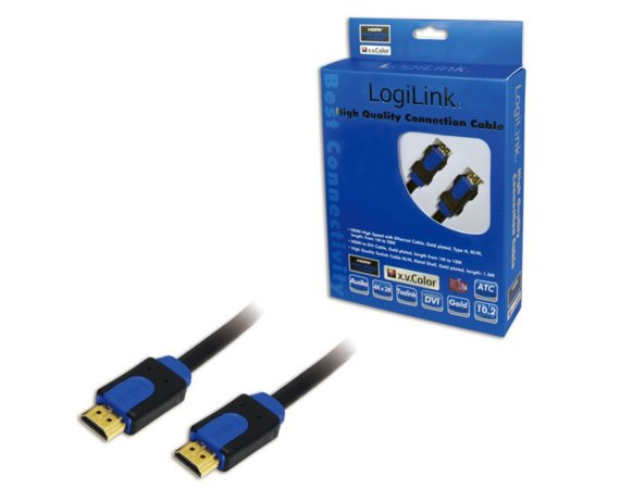 LogiLink Kabel HDMI high speed z Ethernet, dl. 15m