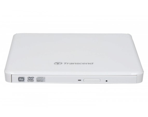 Transcend 8X Portable DVD Writer White ULTRA SLIM 13.9mm
