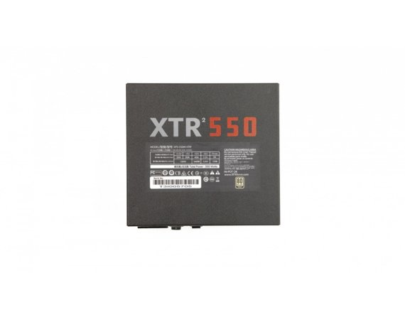 XFX Zasilacz XTR2 550W Full Modular (80+ Gold, 3xPEG, 120mm, Single Rail)