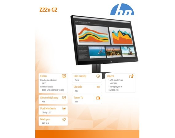 HP Inc. Monitor 21,5 Z22n G2 1JS05A4