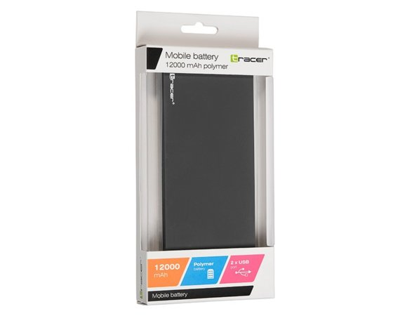 Tracer Power bank 12000 mAh polymer dark grey