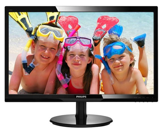 Philips Monitor 24 246V5LDSB LED DVI HDMI Czarny