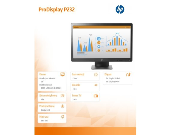 HP Inc. Monitor 23 ProDisplay P232 LED Monitor K7X31AA