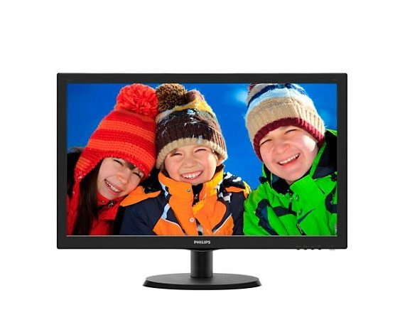 Philips Monitor 21.5 223V5LHSB LED HDMI Czarny