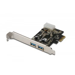 Digitus Karta rozszerzeń/Kontroler USB 3.0 PCI Express, 2xUSB 3.0, Low Profile, Chipset: UPD720202