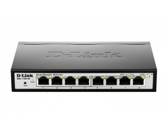 D-Link DGS-1100-08 Easy Smart Switch 10/100/1000 Mbps