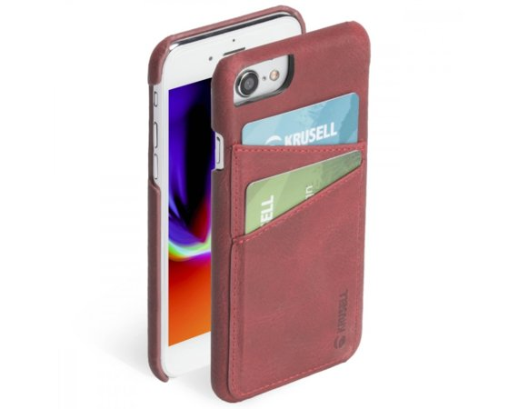 Krusell Etui Apple iPhone 6/7/8 SUNNE 2 Card Cover Czerwony