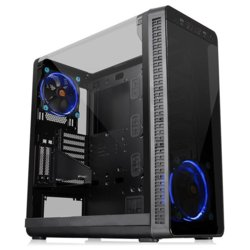 Thermaltake Obudowa View 37 Riing Blue Gull-Wing Glass E-ATX - Czarny