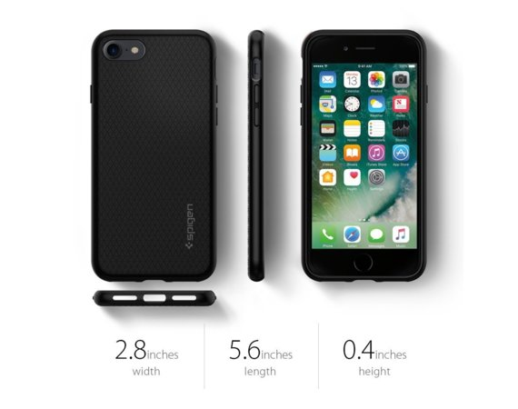 SPIGEN SGP  Liquid Air Black Etui iPhone 7/8