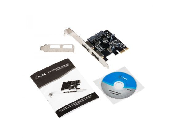 i-tec PCI-E SATA III Card 2 Channels (2x eSATA + 2x SATA)  Regular and Low Profile