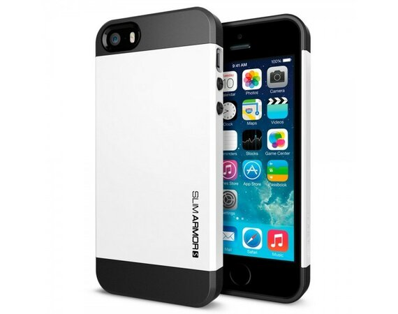 SPIGEN SGP  Etui Slim Armor S Smooth White iPhone 5/5s