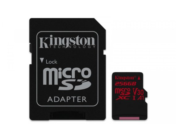 Kingston Karta pamięci microSD 256GB Canvas React 100/80MB/s adapter U3 UHS-I A1
