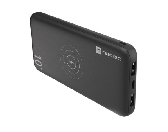 NATEC Power Bank Extreme Media Trevi 10000mAh Wireless 10W Czarny