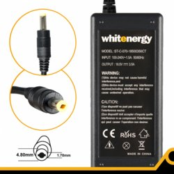 Whitenergy Zasilacz 18.5V | 3.5A 65W wtyk 4.8*1.7mm, HP, Compaq (04096)