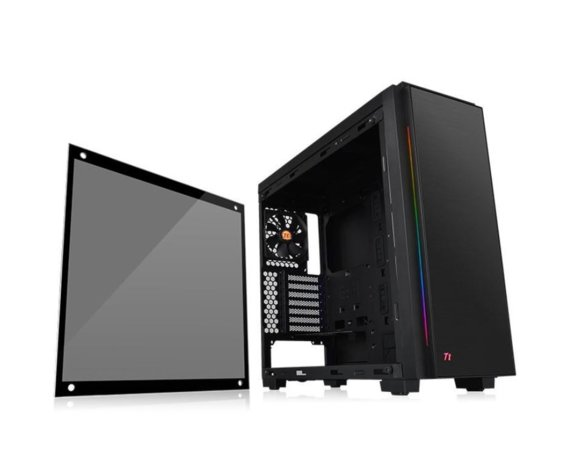 Thermaltake Versa C23 RGB USB3.0 Black - Tempered Glass