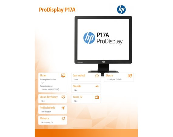 HP Inc. ProDisplay P17A (F4M97AA)