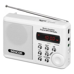 Sencor SRD 215 W RADIO z USB,MP3,SD