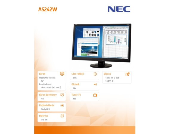NEC Monitor 24 AS242W LED TN 1920x1080