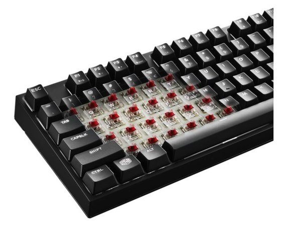 Cooler Master Klawiatura mechaniczna MASTERKEYS PRO L (Cherry MX Brown) White  LED