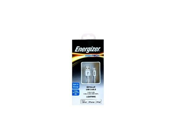 Energizer HIGHTECH Kabel Lightning Alu Srebrny 1,2 m