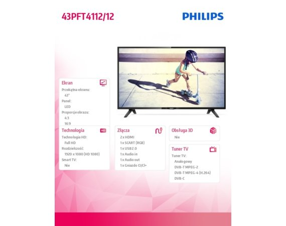 Philips 43'' LED 43PFT4112/12