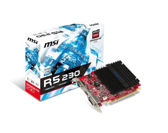 MSI Radeon R5 230 1GB DDR3 64B IT DVI/HDMI/PCI-E/D-SUB