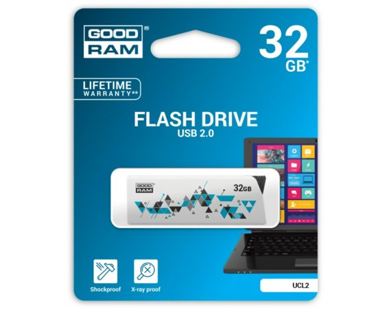 GOODRAM CL!CK  32GB USB2.0 WHITE
