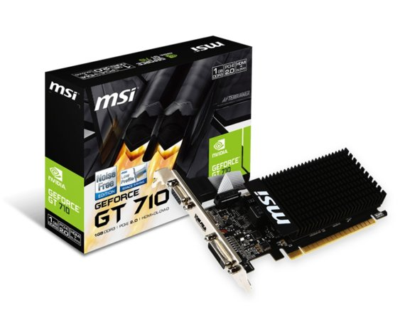MSI Karta graficzna GeForce GT 710 1GB DDR3 64BIT DVI/VGA/HDMI