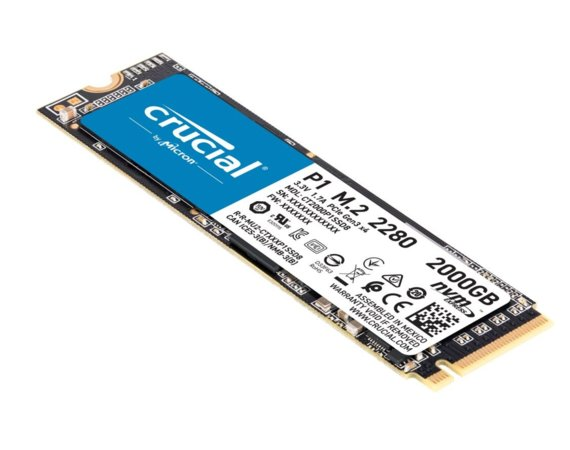 Crucial Dysk SSD P1 2000GB M.2 PCIe NVMe 2280 2000/1700MB/s