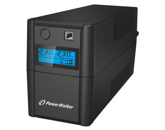 PowerWalker UPS LINE-INTERACTIVE 850VA 2X SCHUKO, RJ11 IN/OUT,  USB, LCD
