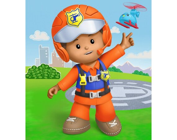 Figurka Fisher-Price Little People Pilot Louis