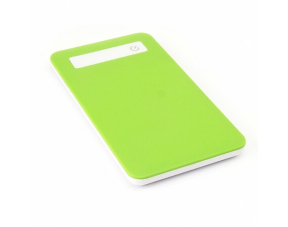 SUNEN PowerBank 3300mAh, Li-Poly, LED, zielony
