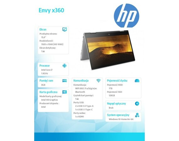 HP Inc. ENVY x360 15-bp101nw 2WA22EA