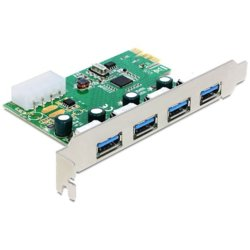 Delock Karta PCI Express -> USB 3.0 4-port NEC