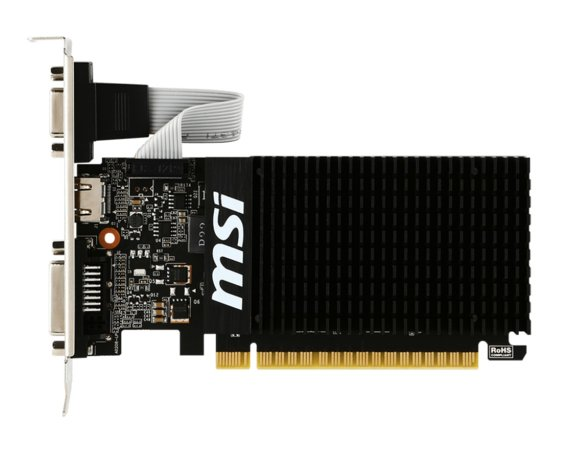 MSI Karta graficzna GeForce GT 710 2GB DDR3 64BIT DVI/D-SUB/HDMI
