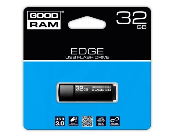 GOODRAM Edge 32GB USB 3.0 Czarny 48/25MB/s