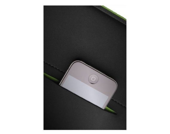 "Samsonite AIRGLOW SLEEVES LAPTOP SLEEVE 13.3"" CZARNY/ZIELONY"