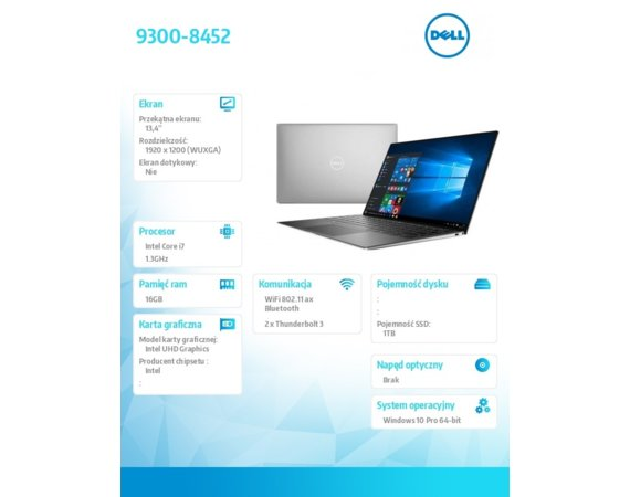 Dell Laptop XPS 9300-8452