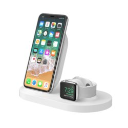 Belkin Stacja dokująca BoostUp Wireless dock iPhone+Watch+USB-A biała