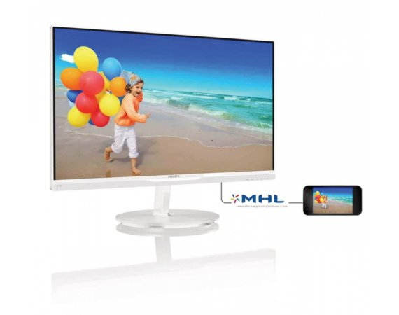 Philips Monitor 23 234E5QHAW LED AH-IPS HDMI MHL Biały
