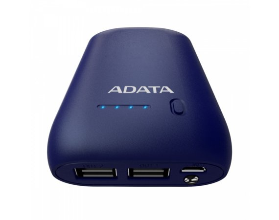 Adata Power Bank P10050 10500mAh Niebieski 2.4A