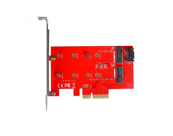 i-tec Adapter PCI-E SATA 2x M.2 Card PCI-E/SATA