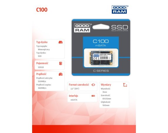 GOODRAM C100 120GB mSATA3