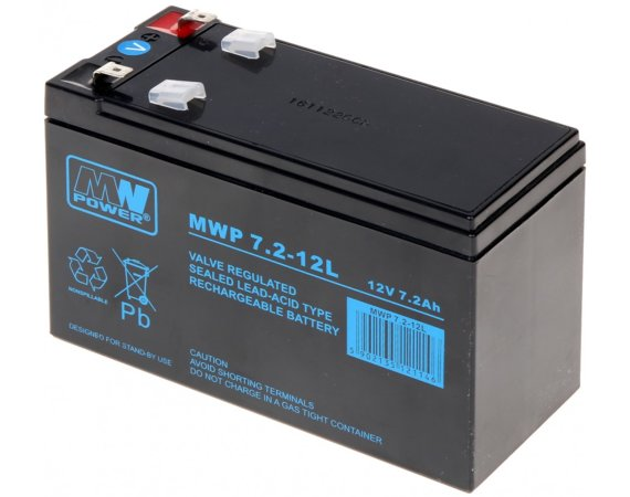 MW Power AKUMULATOR 12V 7,2Ah MWP 7,2 - 12 FASTON 250