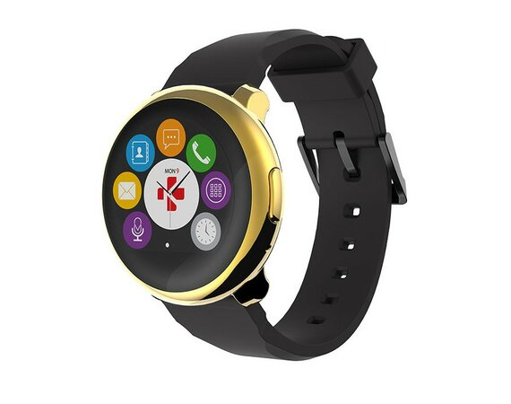 MyKronoz Smartwatch ZeRound Yellow Gold Black